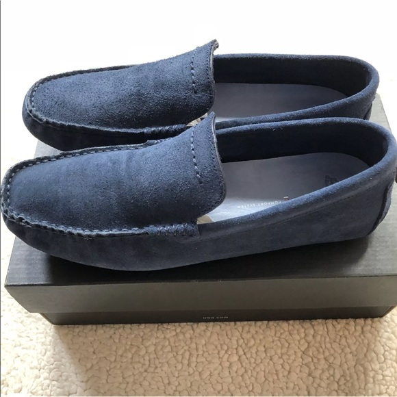 bc9aed231f0 UGG Men's Henrick Suede Driving Moc Shoe, New Navy NWT